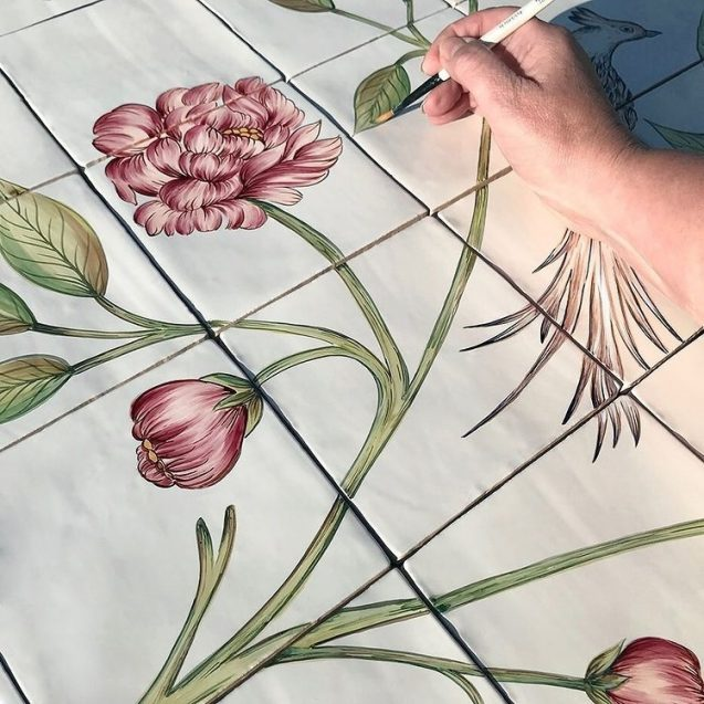 bespoke hand painted tiles 1