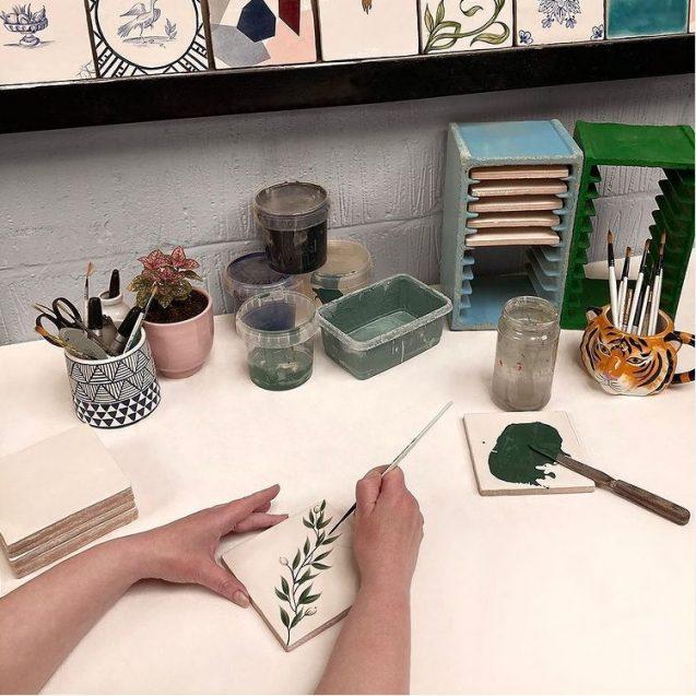 bespoke hand painted tiles 3